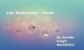 Lab: Biodiversity -- Plants
