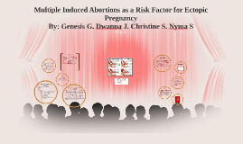 Multiple Induced Abortions as a Risk Factor for Ectopic Pregnancy