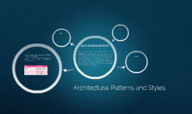 Architectural Patterns and Styles