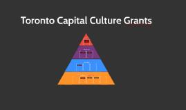 Toronto Capital Culture Grants