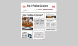 Retos del Periodismo Gastronómico