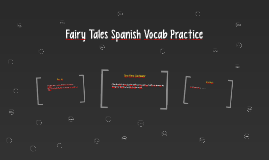 Fairy Tales Spanish Vocab Practice