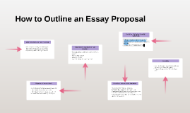 How to Outline an Essay Proposal