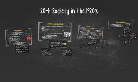 Society in the 1920's