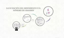 9.2 ECUACIÓN DEL MOVIMIENTO Y EL NÚMERO DE GRASHOF