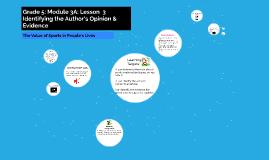 Grade 5: Module 3A: Lesson 3 Identifying t