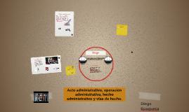 Acto administrativo, operación administrativa, hecho adminis