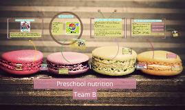 Copy of Preschool age nutrituion
