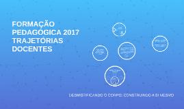FORMAÇÃO PEDAGÓGICA 2017