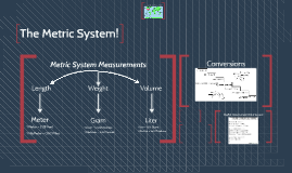 The Metric System!