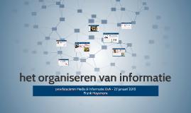 het organiseren van informatie