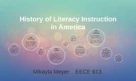 History of Literacy Instruction in America
