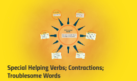 Special Helping Verbs; Contractions; Troublesome