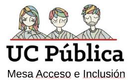 Mesa Acceso e Inclusión
