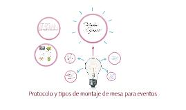 Protocolo y tipos de montaje de mesa para eventos
