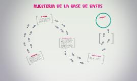 AUDITORIA DE LA BASE DE DATOS