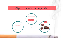 Cigarettes should more expensive.