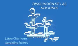 DISOCIACION DE LAS NOCIONES