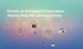 Events in European Exploration