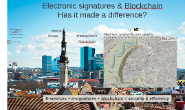 Electronic signatures and blockchain in land register management- PCC Tallinn