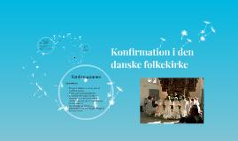 Konfirmation i den danske folkekirke