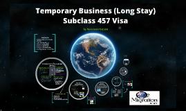 Subclass 457 Visa - Presentation