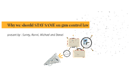 why we should stay same on gun ontrol law