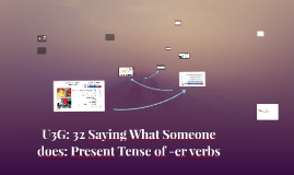 #34- U3G: 32 Saying What Someone does: Present Tense of -er verbs