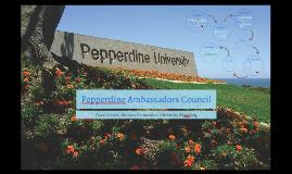 Pepperdine Ambassadors Council PR Plan