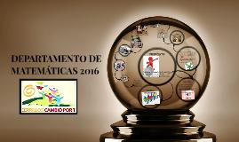DEPARTAMENTO DE MATEMÁTICAS 2016