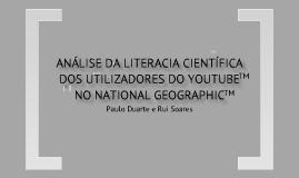 Análise da literacia científica dos utilizadores do YouTube no National Geographic