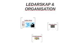 LEDARSKAP & ORGANISATION