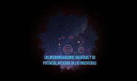 LOS MICROORGANISMOS HALÓFILOS Y SU POTENCIAL APLICADO EN LA