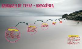 BARRAGEM DE TERRA - Homogênea