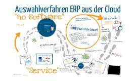 Auswahlverfahren ERP aus der Cloud