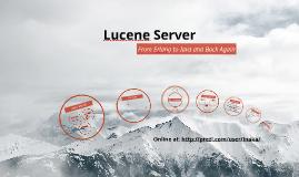 Lucene Server @ Erlang Factory SF 2014