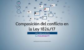 Composición del Conflicto y Ley 1826