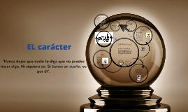 EL CARACTER