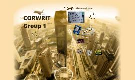 CORWRIT: Group1 Grammatically Incorrect