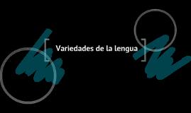 Teoría y variedades de la lengua