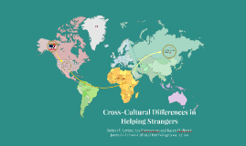Levine Cross-cultural altruism