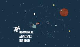 NORMATIVA DE ADYACENTES NOMINALES