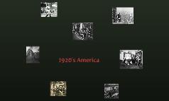 1920's USA