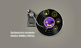 Copy of Clasificación de los instrumentos: