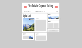 Web Tools for Corporate Training