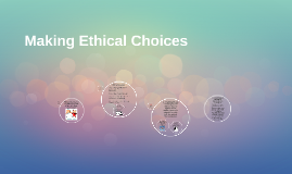 Making Ethical Choices Chapter 2 Journalism