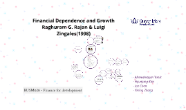 Financial Dependence and Growth