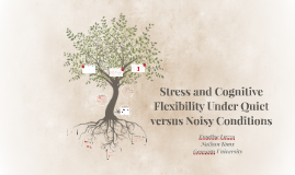 Stress and Cognitive Flexibility Under Quiet versus Noisy Conditions