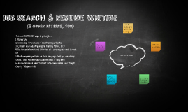 Job Search & Resume Writing