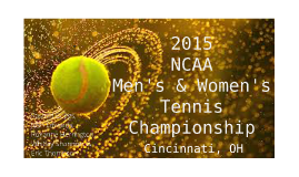 2015 NCAA Men's and Women's Championship
